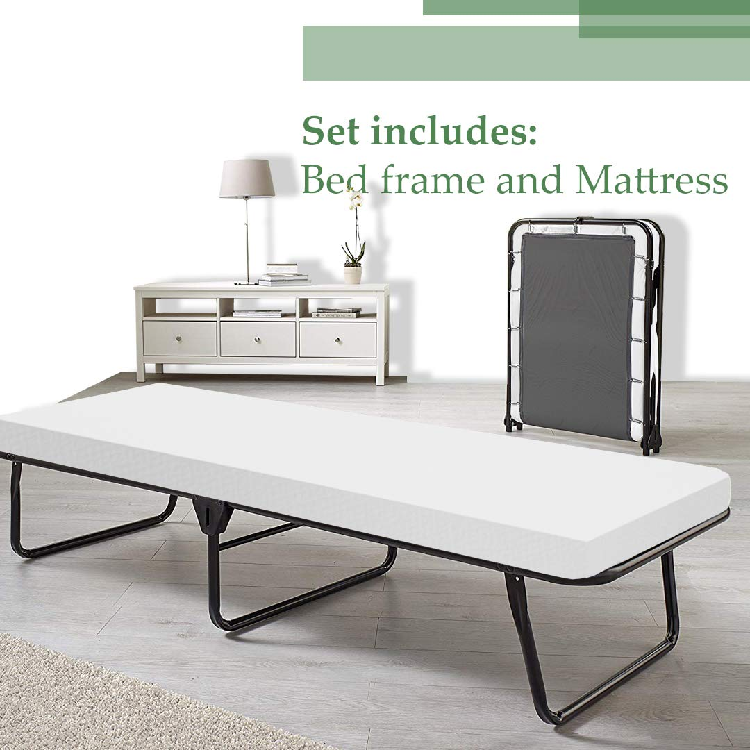 Mattress Solution Fully 31-Inch Folding Cot Bed, Twin by Mattress Solution