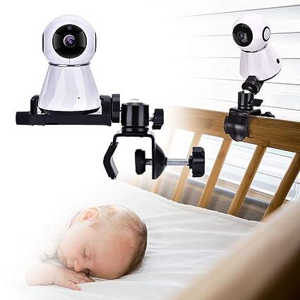 Soporte para Monitor de cámara para bebé, Soporte Giratorio Ajustable de 360 Grados, Mantenga a su bebé a la Vista, Adecuado para la mayoría de los ...