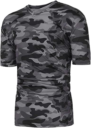 Barkoiesy Tee Shirt Homme Camouflage,Top