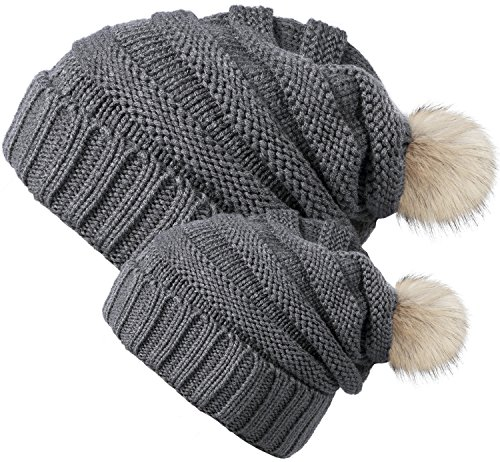 Chalier Parent Child Winter Slouchy Beanie product image