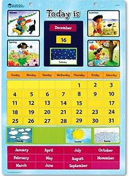 Learning Resources- Calendario didáctico magnético, Color (LER0504 ...