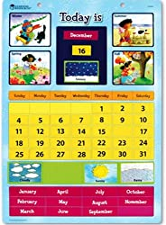 Learning Resources Magnetic Learning Calendar, 51 Magnetic Pieces & Calendar, Measures 12