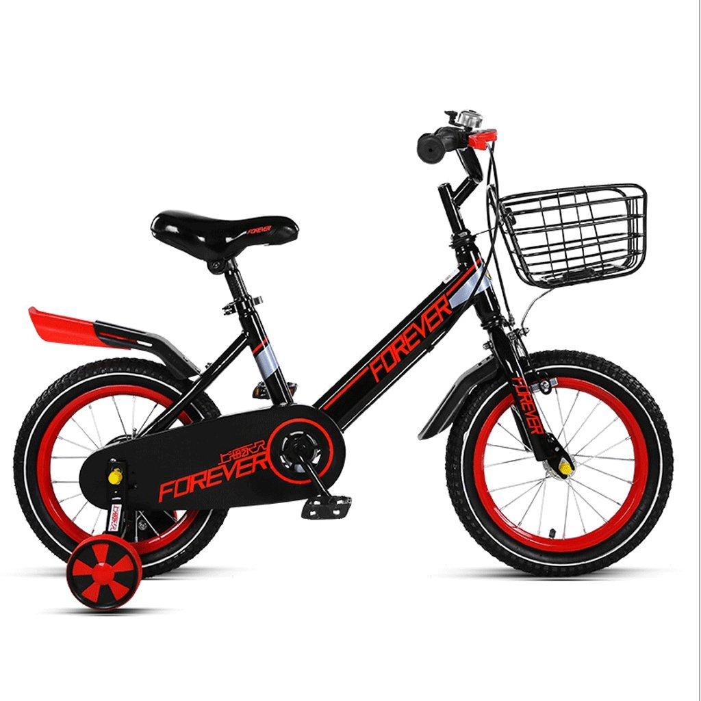 子供の自転車3-10歳の赤ちゃんのバイク男の子と女の子の生徒の子供のベビーカー (色 : 赤, サイズ さいず : 12インチ) B07D6MDT41 12インチ|赤 赤 12インチ