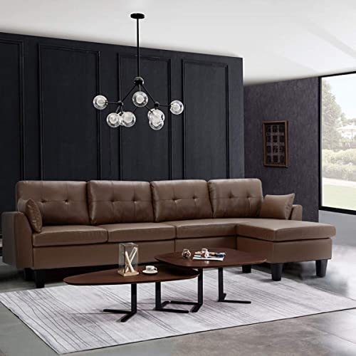YODOLLA 4-Seat Convertible Sectional Sofa Couch