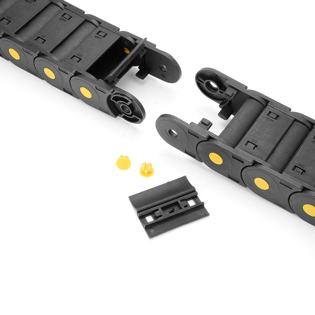 sourcing map R18 10mmx20mm c/âble plastique noir Glisser fil cha/îne 1M Longue Op/érateur CNC