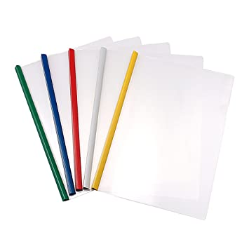 amazon com a4 size plastic clear sliding bar report covers pack