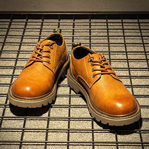 Botas Invierno Ayuda Herramientas Martin Grandes Hombre Lianaiec Bajos 1 Cortas Cuero Cabelludo De yellow Zapatos TxTBqdp