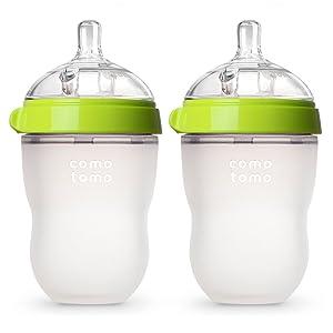 Comotomo Baby Bottle, Green