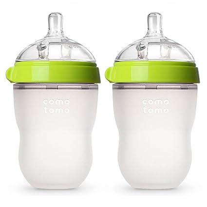 Amazon.com: Biberón de Comotomo, 8 onzas, Verde: Baby