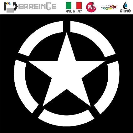 Stella Star Adesivo Decal Decalcolmania Vinile Murale Laptop Auto Moto Casco Camper STICKER PRESPAZIATO BLU 10cm ERREINGE