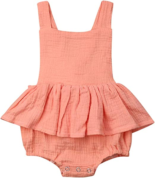 Toddler Infant Kids Baby Girl Ruffled Dress Clothes Backless Party Dress XI