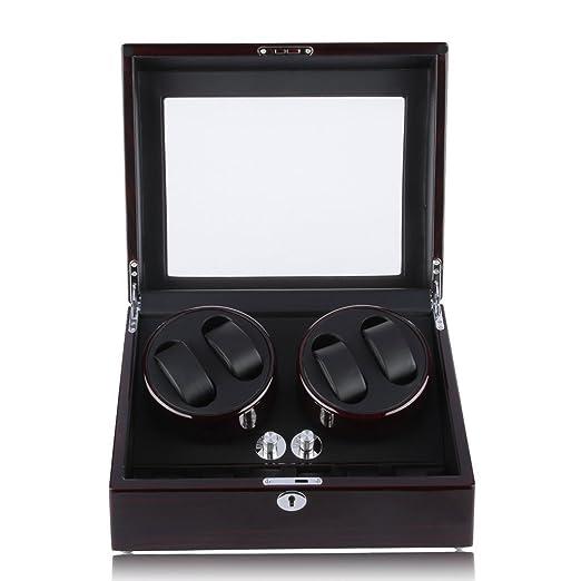 Excelvan Automatic Watch Winder 4 6 Luxury Watch Display Box Storage