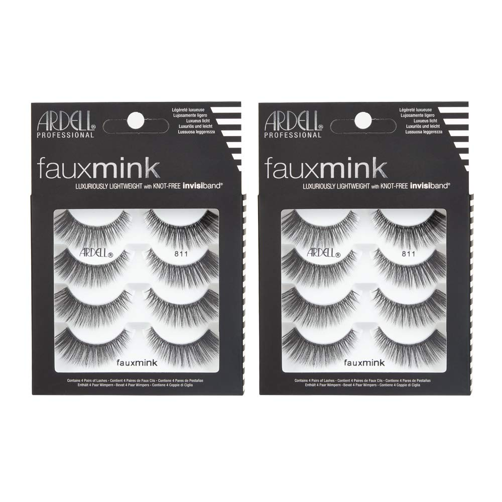 Ardell Faux Mink 811 Multipack Lightweight Lashes with Invisiband