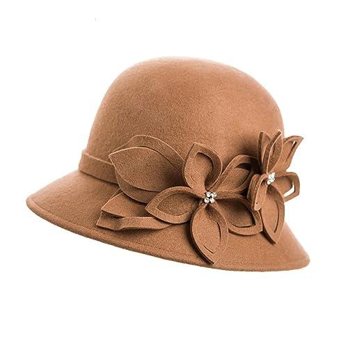 La Sra pequeño sombrero Inglaterra/Sombreros otoñales e invierno/macetas tapas/sombrero del jazz de ...