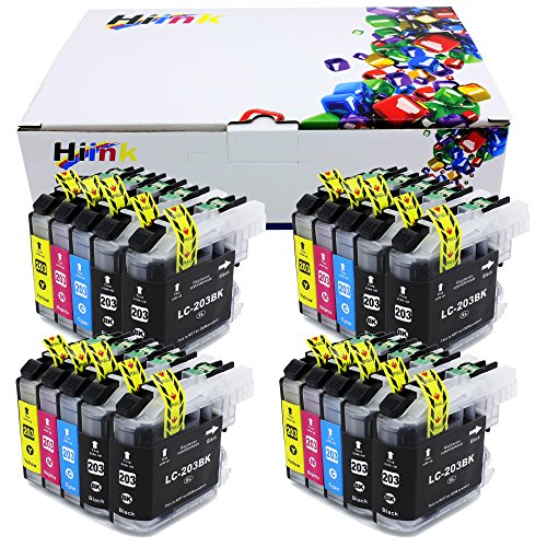 HIINK Comaptible Ink Replacement for Brother LC203XL LC203 LC201 use in MFC-J460DW MFC-J4420DW MFC-J460DW MFC-J4620DW J480DW J485DW J5520DW J5620DW J5720DW J680DW J880DW J885DW(BK, C, M, Y, 20-Pack)