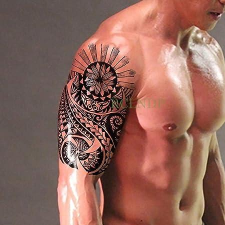3 Piezas Etiqueta engomada del Tatuaje a Prueba de Agua Tribal ...