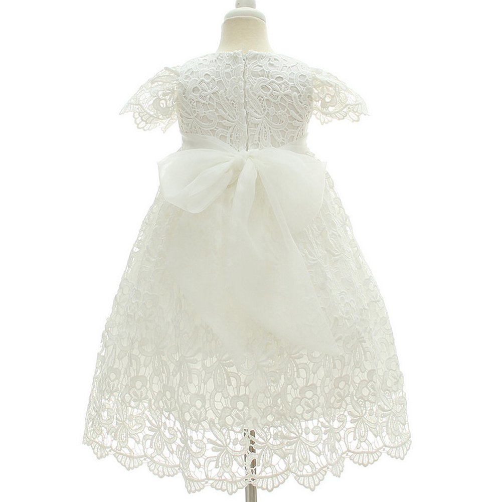 Moon Kitty Baby Girl Special Occasion Dress 2PCS Christening Baptism Gowns Girls Hollow Long Dress