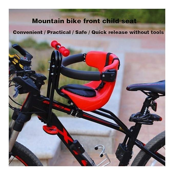 Bike seat for Kids on Adult Bike Children Bike Seat Bicycle Back Seat Adjustable Child Bike Carrier Seat for Bicycle MTB Road Bike Blue Green YSJ