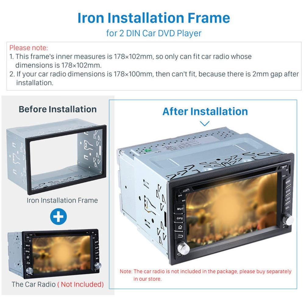 Kit de instalación de doble jaula de hierro universal para radio ...