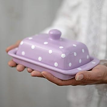 Ciudad a Cottage lunares hecho a mano de cerámica pintado a mano ...