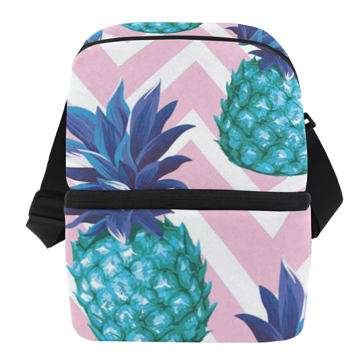 Lunch Bag Summer Pineapple Insulated Cooler Bag Womens Leakproof refrigerator Box Zipper Tote Bags for Fishing