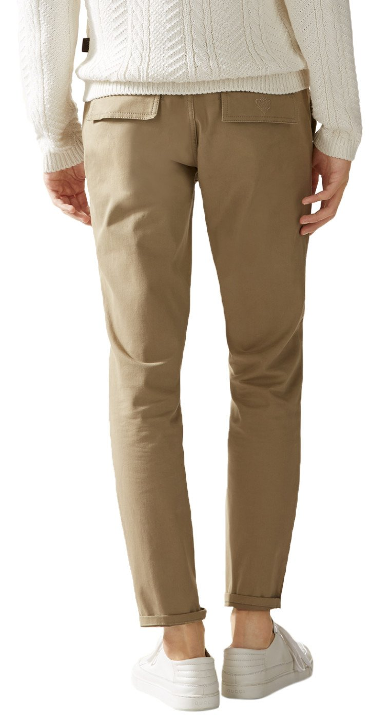 Gucci Men's Softened Stretch Cotton Short Chino Casual Pants, Beige, 28 by Gucci (Image #2)