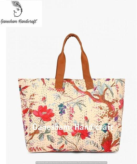 Bolsas de playa indias hechas a mano de estilo bohemio, con asa superior de algodón, bolso