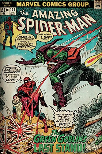 Marvel Comics Retro: The Amazing Spider-Man Comic Book Cover No.122, the Green Goblin (aged) Poster 24 x 36in