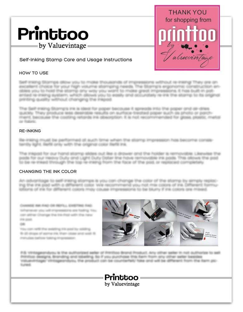 Printtoo RIGHT MARK Stamp Colop Appartamenti inchiostrazione gomma Mini Anno insegnanti francobolli decorativi 12MM