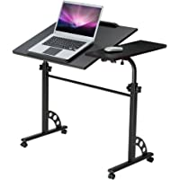 Langria Adjustable Mobile Laptop Stand Desk Rolling Cart