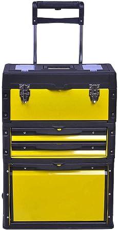 GYZ Caja de Herramientas, cajón móvil de Tres Capas con Ruedas ...