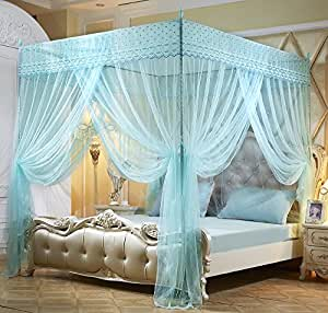 make star lighted canopies for beds | Amazon.com: Mengersi Princess Canopy Bed Curtains For ...