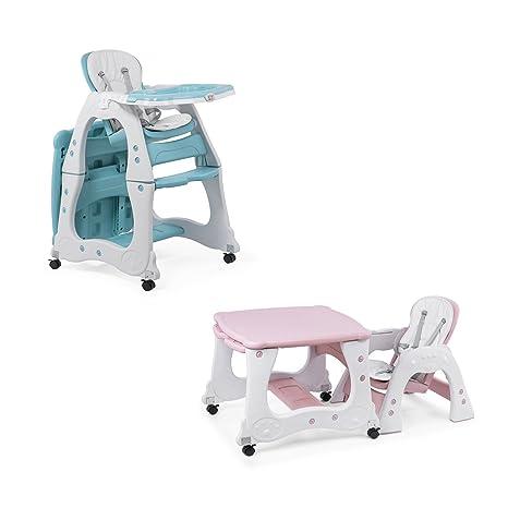 Baby Vivo Trona de bebe Silla para Niños con Bandeja Multifuncional Silla alta combinada Tableta Mesa