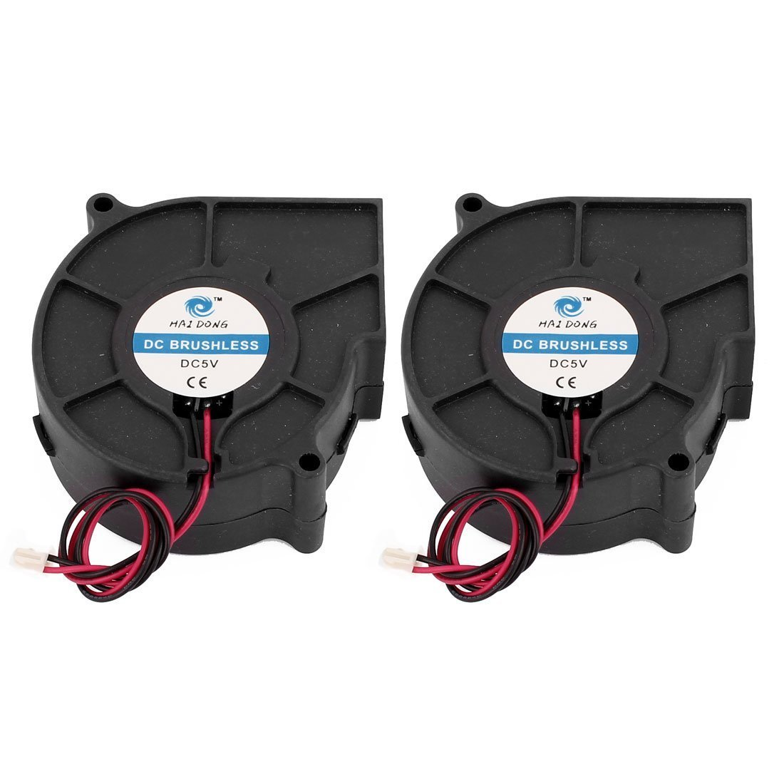 sourcingmap® 2x DC12V 75x75x30mm Bürstenlos Turbo Gebläse Kühlung Ventilator für PC Gehäuse a16032500ux0920