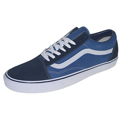 Vans U Old SKOOL Navy - Zapatillas de Cuero Unisex: Amazon ...