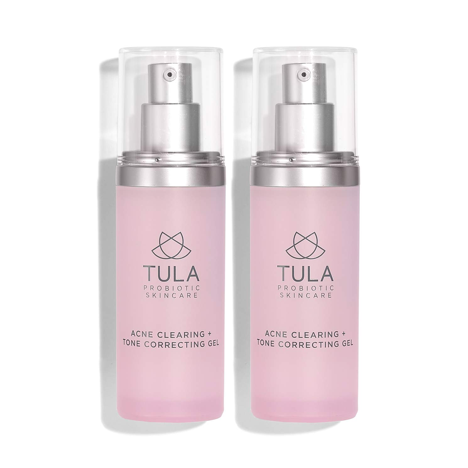 TULA Probiotic Skin Care Acne Clearing + Tone Correcting Gel (Pack of 2) | Acne Treatment, Clear Up Acne, Prevent Breakouts & Brighten Marks, Contains Salicylic Acid and Probiotics | 1 fl. Oz x 2