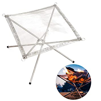 Fansport Outdoor Fire Pit Foldable Stainless Steel Camping Fire Pit Supplies