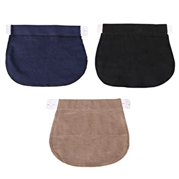 31cfa1e56 Healifty Extensor de Cintura para Pantalones para Mujeres Embarazadas o Futura  Madre 3 Piezas (Negro