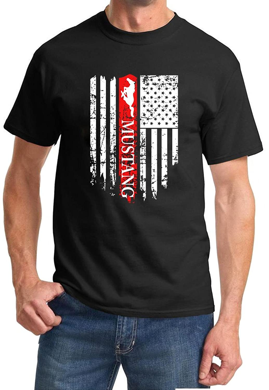 Ford Mustang Logo Patriotic Classic Car Design Tshirt