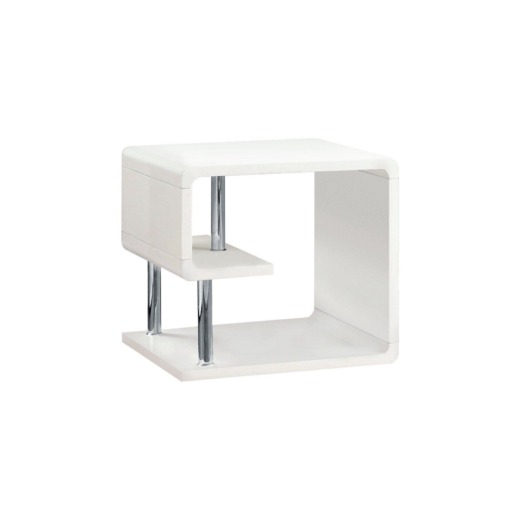 Furniture of America Dixie Modern End Table, White