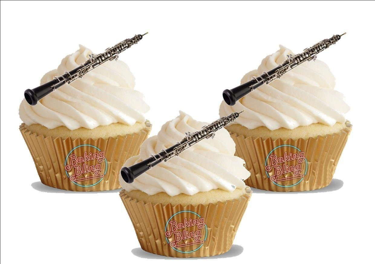 MUSICAL KEYBOARD 12 STAND UPS Edible Image Cake Toppers musical instrument