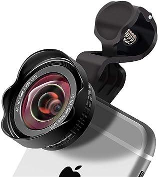 ZED- Lente para teléfono Celular 3 en 1 Clip-On,Lente para teléfono HD,180° Lens+0.45X HD 120° Lente Gran Angular+20X Macro,Kits de Lentes de cámara para Samsung/Huawei/HTC y Most Smartphone,Negro: Amazon.es: Electrónica