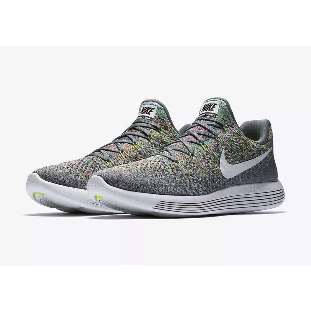 best loved 80eb5 d87f3 Amazon.com   Nike Men s Lunarepic Low Flyknit 2 Running Shoe Cool Grey  White-Volt-Blue Glow 8.5   Road Running