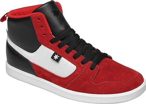 DC - Dc - Hombre Zapatillas de Landau alta Unrst Cupsole, EUR: 44, Red/Black: Amazon.es: Zapatos y complementos