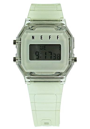 NEFF Reloj de hombre Flava NF0249 diseño digital reloj, talla única (transparente)