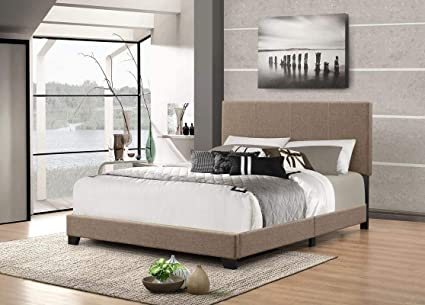 Domesis Superior Upholstered Queen Bed in Raconteur Pepper