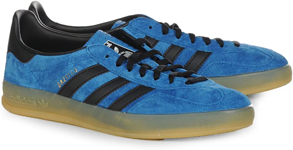 Amazon.com | Adidas Trainers Shoes Mens Gazelle Indoor Light Blue ...
