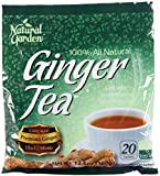 Natural Garden 100% All Natural Ginger Tea 20 Tea Sachets (Pack of 6)