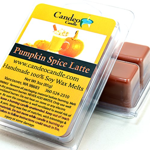 Pumpkin Spice Latte, Super Scented Soy Melt Cubes, Pack of 2- Use in Tart Warmers, Tea Light Warmers, Oil Warmers or Scentsy Warmers!