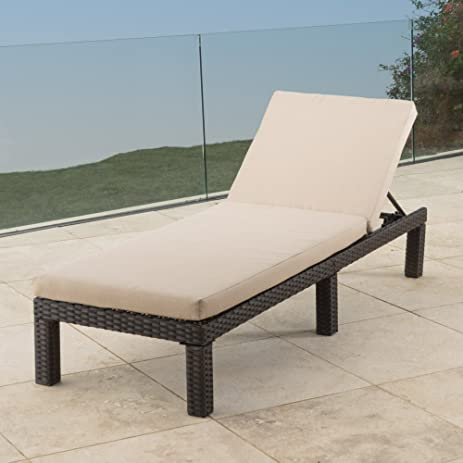 Best Selling Home Kappa Wicker Patio Chaise Lounge With Water Resistant  Cushion